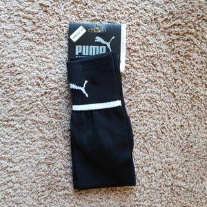 Puma Soccer Socks, Black/White. Size Large